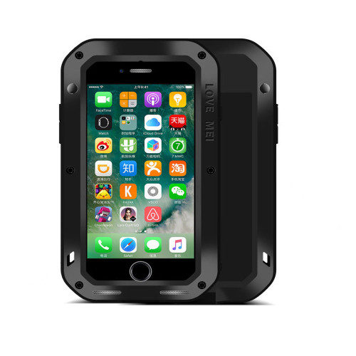 Black Apple iPhone 5 / 5S / SE Water Resistant Shockproof Metal  Case Cover -1