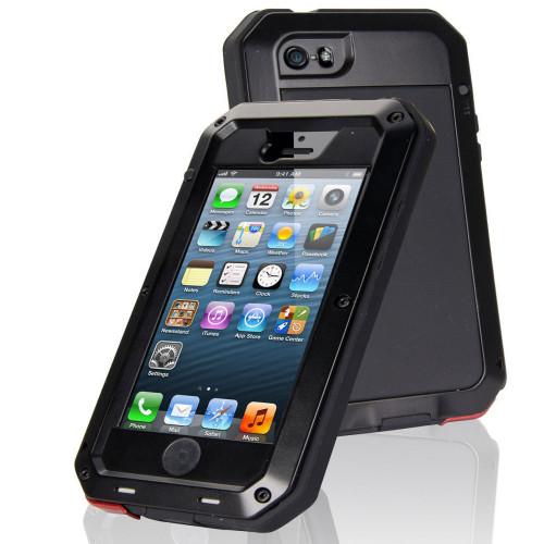 Black iPhone 7 / 8 Water Resistant Shockproof Defender Metal Case - 1