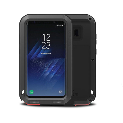 Black Heavy Duty Water Resistant Shockproof Case For Samsung Galaxy S6 Edge - 1