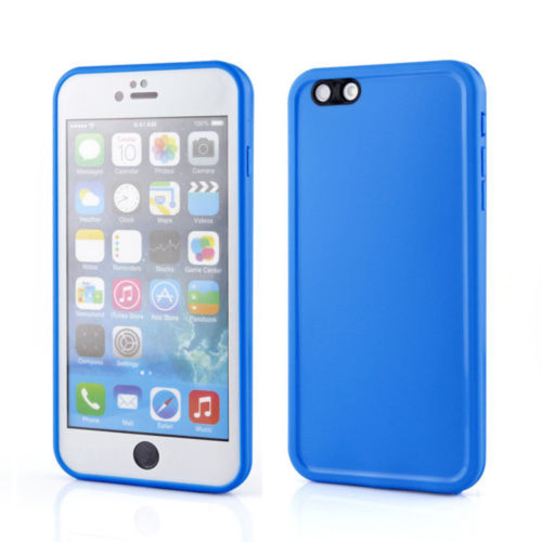 Apple iPhone 8 Plus Rubber Full Body Protection Silicone Gel Case - Blue - 1