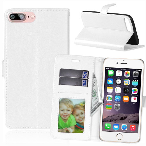 Leather Photo Frame Wallet Card Slot Case Cover For Apple iPhone X - White - 1