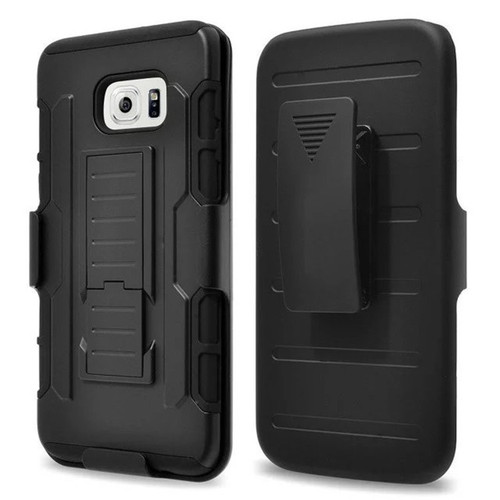 Black Military Future Armor Case w/ Optional Holster For Samsung Galaxy S8 - 1