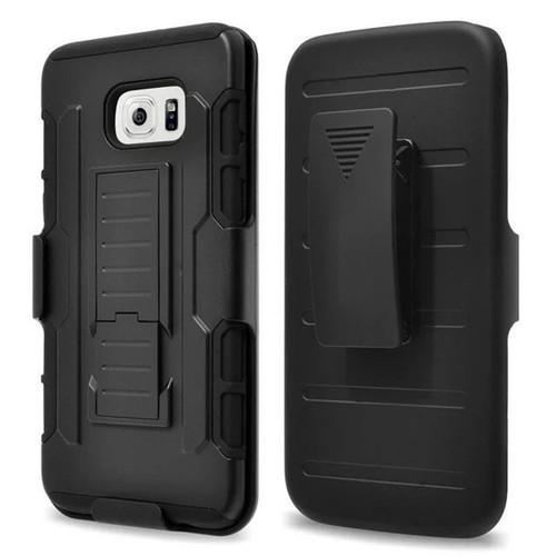 Samsung Galaxy S8 Plus Black Military Future Armor Case w/ Optional Holster - 1