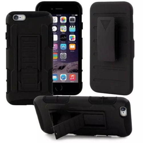 Apple iPhone X Black Military Future Armor Case w/ Optional Holster - 1