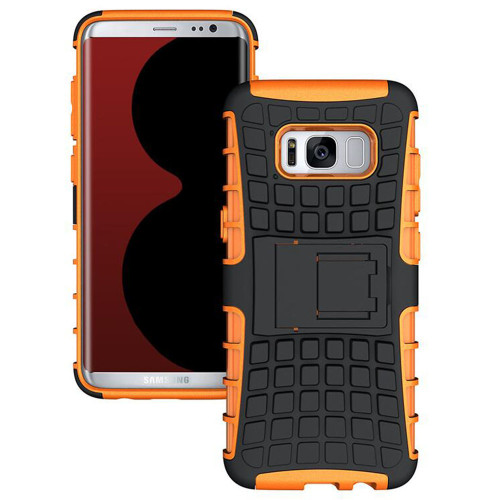 Orange Heavy Duty Rugged Kickstand Armour Case For Samsung Galaxy Note 8 - 1