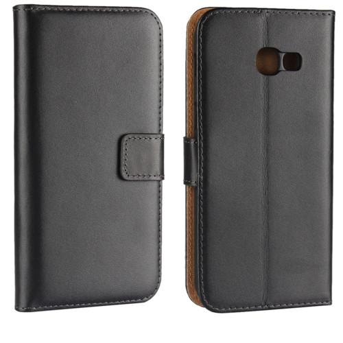 Samsung Galaxy A5 (2017) Genuine Leather Wallet Case - Black - 1