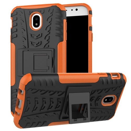 Orange Samsung Galaxy J7 Pro (2017) Heavy Duty Tradies Case