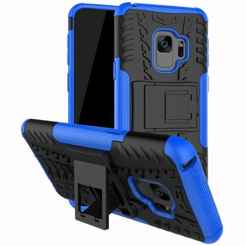 Samsung Galaxy S9 Plus Blue Heavy Duty Defender Kickstand Case - 1