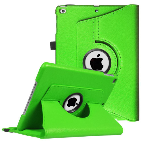 "Green iPad 9.7"" 2018  360 Degree Rotating Stand Protective Case - 1"
