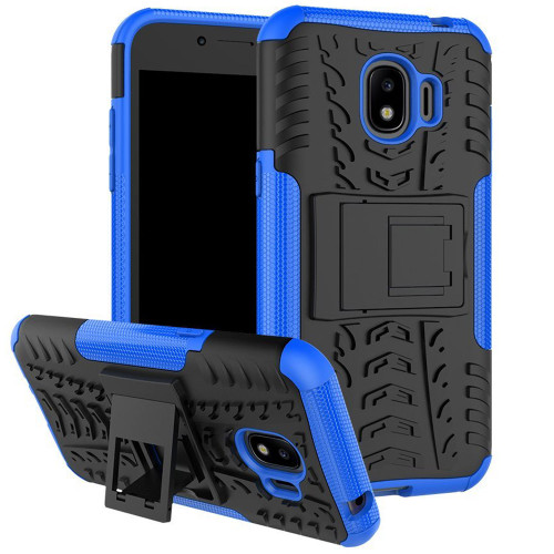 Blue Galaxy J2 Pro (2018) Heavy Duty Defender Case with Built-In Stand - 1