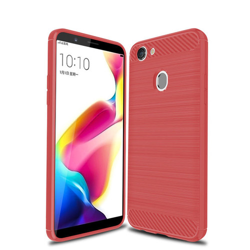 Red Slim Armor Shock Proof Case for Oppo A73 Cover - 1