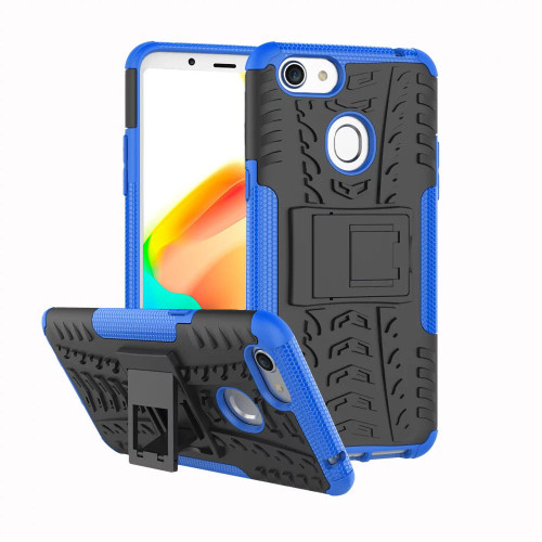 Blue Dual Layer Tough Hybrid Kickstand Case for Oppo A73 - 1
