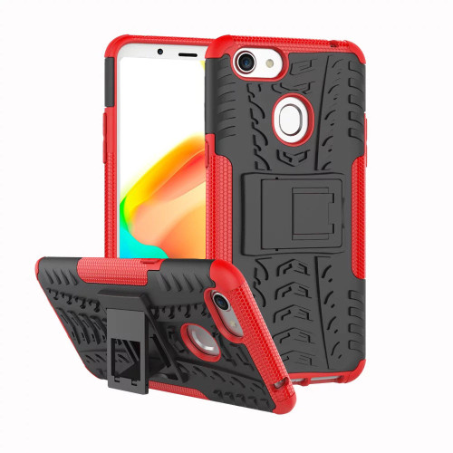 Red Tradies / Builders Tough Hybrid Kickstand Case for Oppo A73 - 1