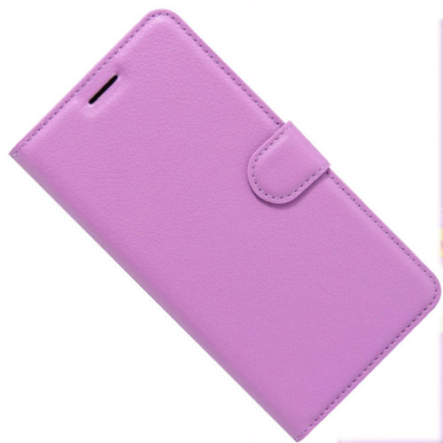 Purple Premium Litchi Leather Wallet Stand Case for Oppo A73 - 1