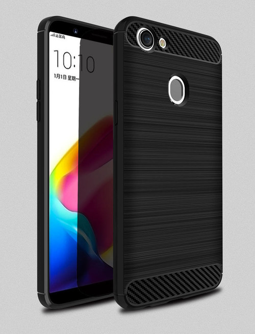 Black OPPO A57 Tough Armor Heavy Duty Shockproof Case Cover - 1