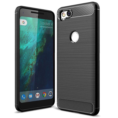 Black Google Pixel 2 Tough Armor Heavy Duty Defender Case Cover
