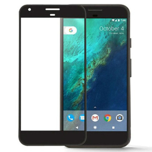Google Pixel 2 Full Cover Metal Frame Tempered Glass Screen Protector