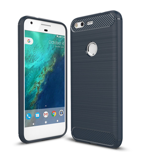 Black Google Pixel 2 XL Heavy Duty Carbon Fibre Case Cover