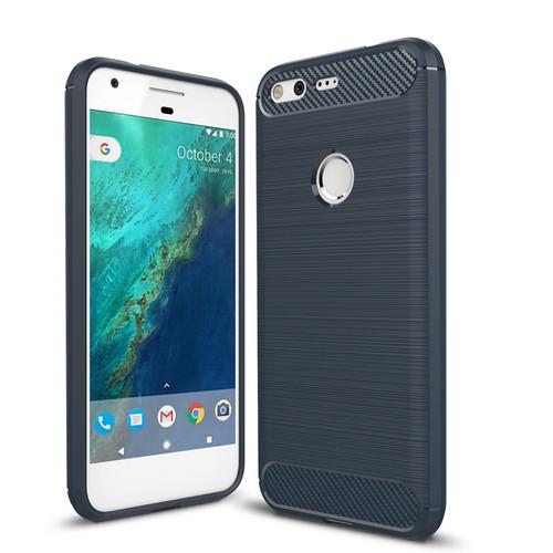 Black Google Pixel 2 XL Heavy Duty Carbon Fibre Case Cover