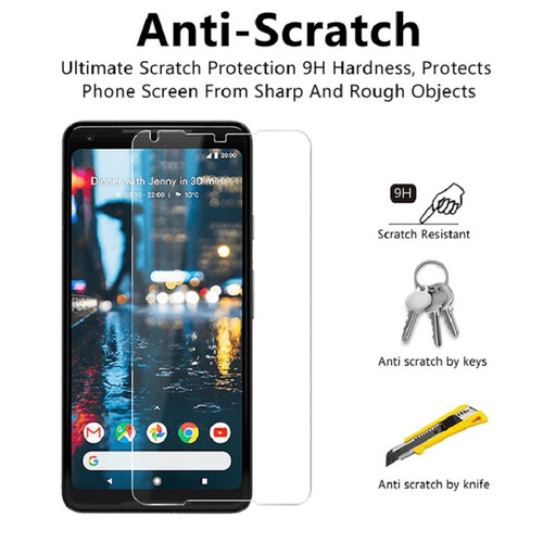 Tempered Glass Film Screen Protector For Google Pixel 2 xl