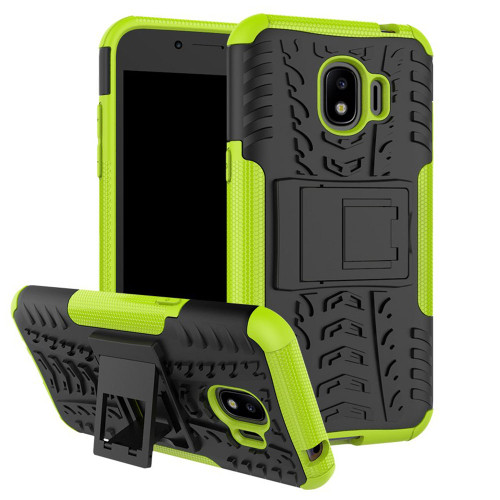 Green Galaxy J2 Pro (2018) Heavy Duty Defender Kickstand Case