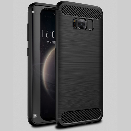 Black Samsung Galaxy S8 Slim Armor Carbon Fibre Case Cover - 1