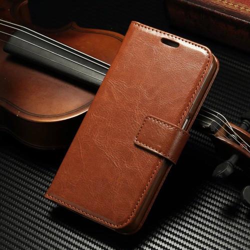 Samsung Galaxy S8 Luxury Vintage Brown Wallet Stand Case - 1