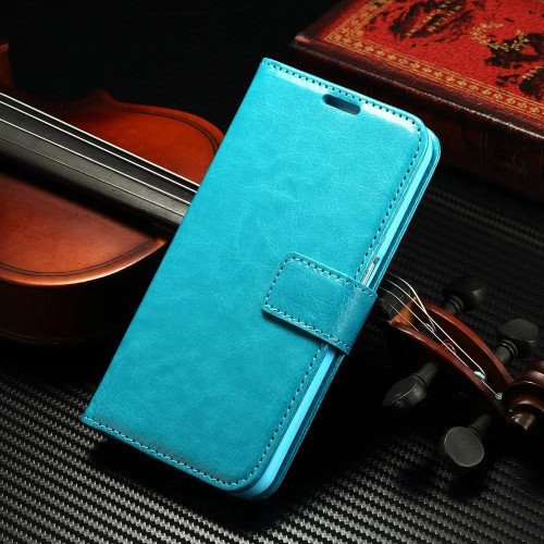 Aqua Wallet Stand Case Cover Credit Card Slots For Samsung Galaxy S8 - 1
