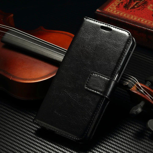 Samsung Galaxy S8 Plus Premium Black Wallet Stand Case Cover - 1