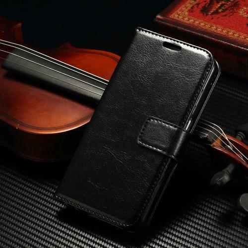 Samsung Galaxy S8 Plus Premium Black Wallet Stand Case Cover - 1