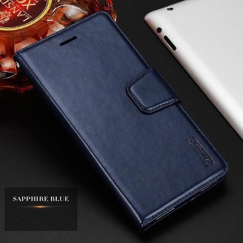 Dark Blue Luxury Hanman Leather Wallet Credit Card Case For Apple iPhone XS