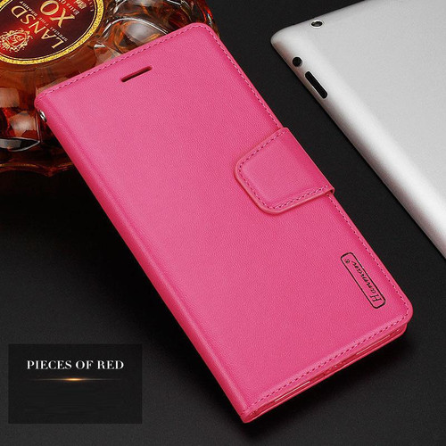 Hot Pink Fashionable Hanman Leather Wallet Credit Card For Apple iPhone XS