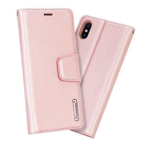 Rose Gold Apple iPhone XS Max Luxury Hanman Leather Wallet Flip Case Cover - 5