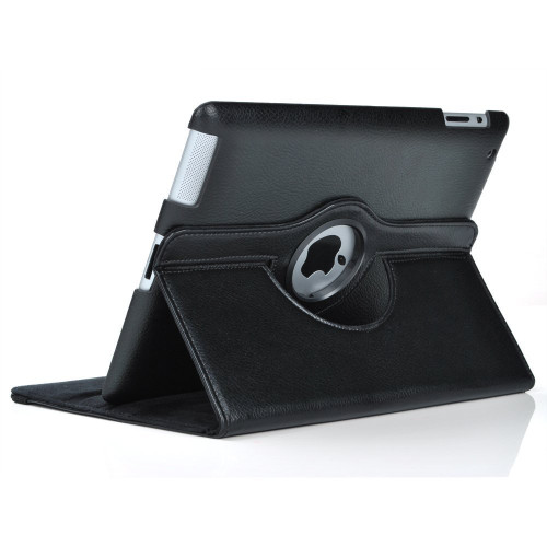 Black Galaxy Tab A 8.0 (2015) T350 T355 360 Rotating Stand Case- 1