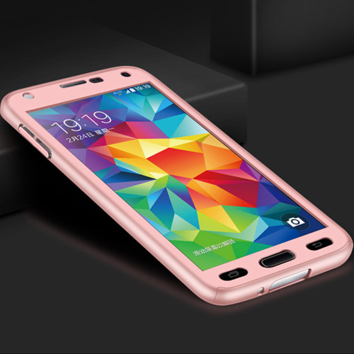 Rose Gold Galaxy J5 Pro (2017) Full Body 360 Degree Protect Case - 1