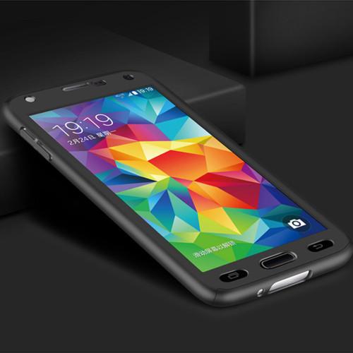 Black Galaxy J7 Pro (2017) Full Body Coverage 360 Degree Protect Case - 1