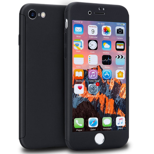 Apple iPhone XR 360 Degree Protect Full Body Case Cover - Black - 1