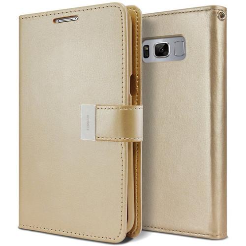 Gold Samsung Galaxy S10 Genuine Mercury Rich Diary Wallet Case - 1