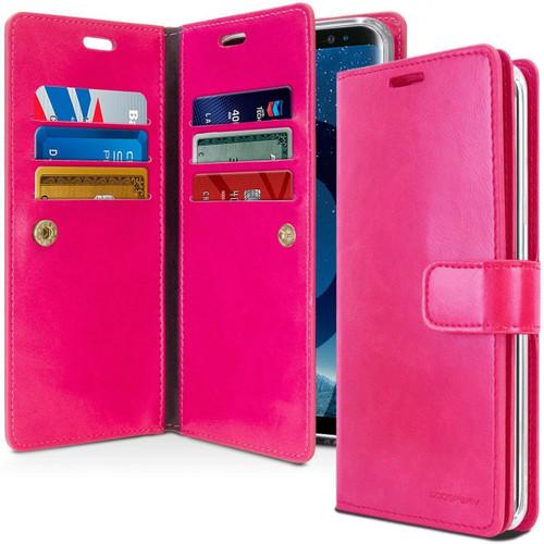 Hot Pink Galaxy S10 Genuine Mercury Mansoor Wallet Case Cover