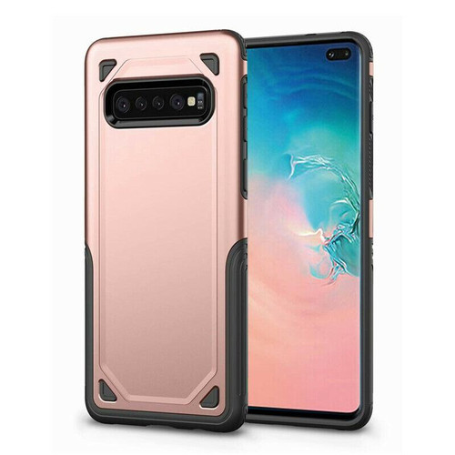 Rose Gold Slim Defender Bumper Case For Samsung Galaxy S10+ Plus