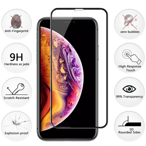 5D Full Cover Tempered Glass Screen Protector For iPhone XR - 1
