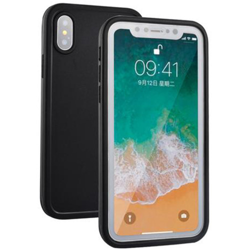 Black Full Body Water Resistant TPU Gel Case For Apple iPhone XS Max - 1