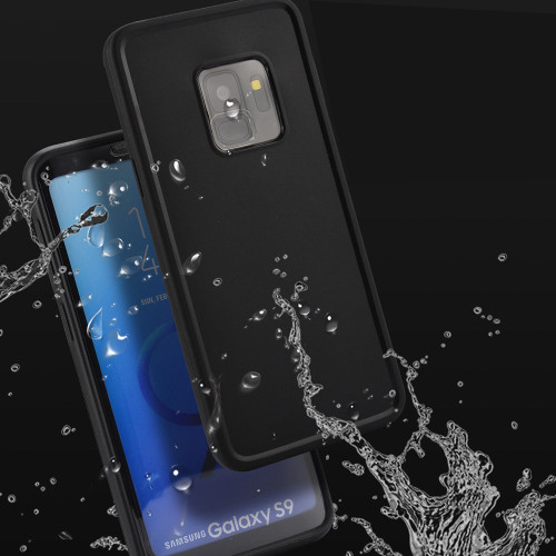 Black Samsung Galaxy S9 Water Resistant Full Body TPU Gel Case - 1