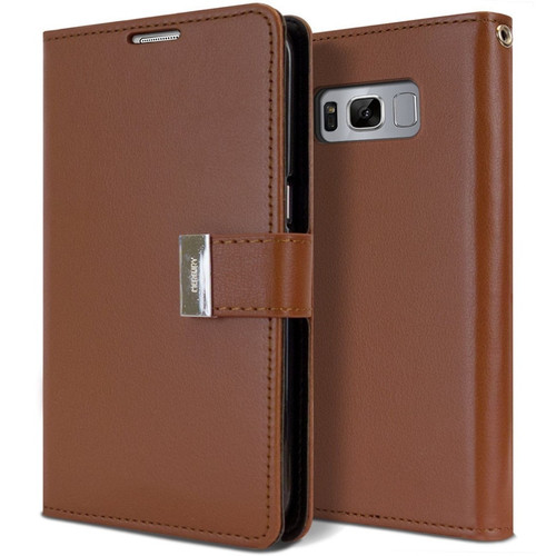 Brown Genuine Mercury Rich Diary Wallet Case For Galaxy S10+ Plus - 1