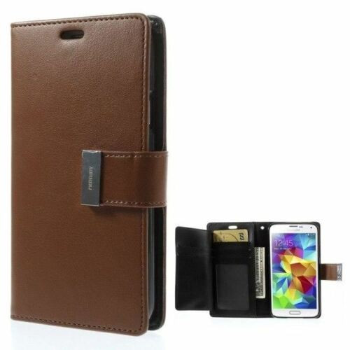 Brown Genuine Mercury Rich Diary Business Wallet Case For Galaxy S5 - 1
