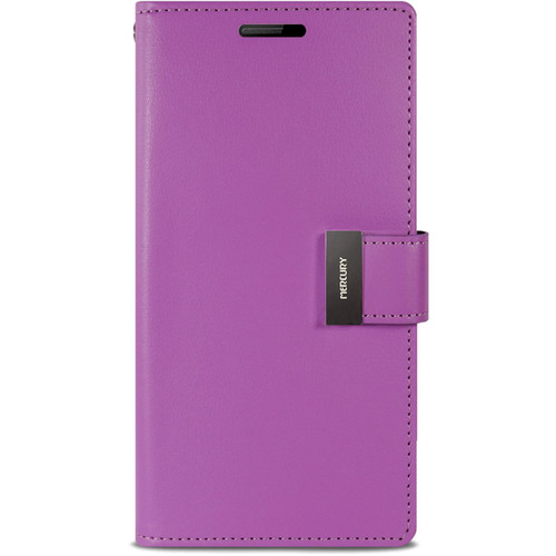 Stylish Galaxy S5 Genuine Mercury Rich Diary Wallet Case - Purple - 1