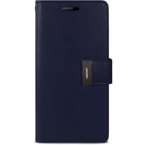Navy Genuine Mercury Rich Diary Premium Wallet Case For Galaxy S5 - 1