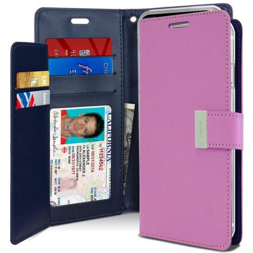 Purple Premium Mercury Rich Diary Wallet Case For iPhone X / XS - 1