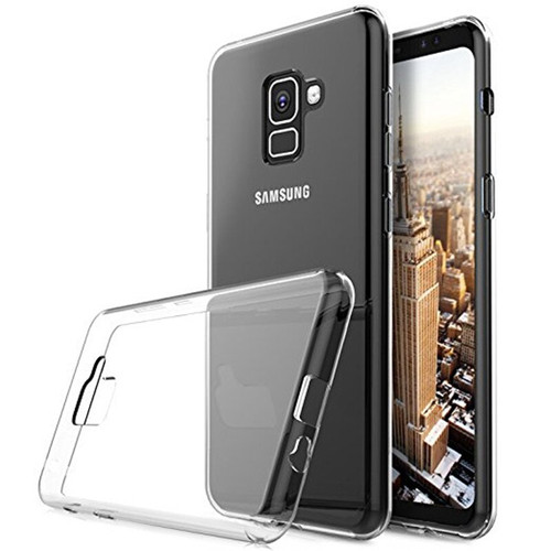 Clear Ultra Slim TPU Soft Gel Case  For Samsung Galaxy A8 (2018) - 1