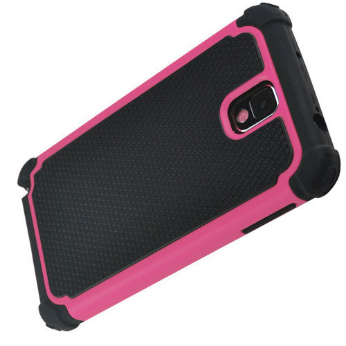 Heavy Duty Galaxy Note 3 Defender Case - Hot Pink 1